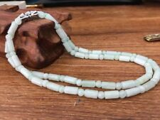Jade4x8mm Bead Necklace 001 Certified 100% Natural A Emerald
