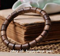 "5.9/"" Fine Chinese Huali Wood Hand Grinding Round Storage Tank Weiqi Pot Kettle"