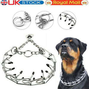 Metal Steel Chain Dog Training Prong-Pinch Adjustable Choke Spike Collar Pet