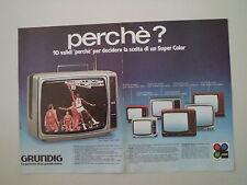 advertising Pubblicità 1979 GRUNDIG TV TELEVISORI
