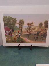 Grandma Moses Art Prints 7 Of 8 Prints Folk Art Original Case and Box