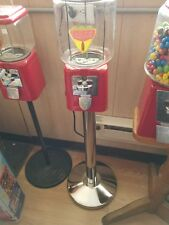 "VINTAGE- Coca Cola THEMED ""Oak"" Candy / guumball Machine Glass with stand"