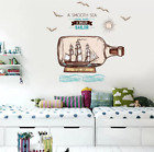 Drifting Bottle Wall Sticker Background Stickers Home Decor Living Room Window