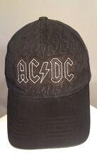Concept One AC / DC Black Cap Multi Logo Adjustable Strapback Hat Cap One Size