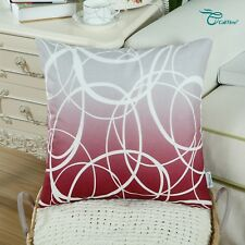 CaliTime Teal Cushion Covers Pillow Shells Quatrefoil Geometric Decor 45 X 45cm