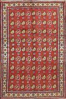 Vintage Paisley Geometric Mahal Oriental Area Rug Wool Hand-Knotted 3'x5' Carpet