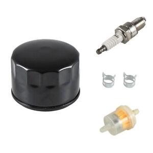 Oil Filter Fuel Spark Plug For Craftsman LTX1000 LT2000 John Deere L110 D110