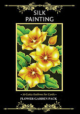 Silkcraft Silk Painting Printed Gutta Outlines-for cards-GARDEN PACK(Pack of 20)