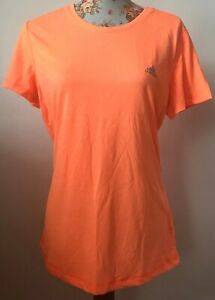New Adidas Performance Climalite Prime Tee Orange/ Pink