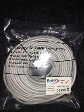 30M Cable de red Ethernet Cat 5e RJ45-gris de alta calidad de conectores enchapados en oro