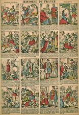Gravure ancienne  image d'Epinal histoire de France feuille no 8