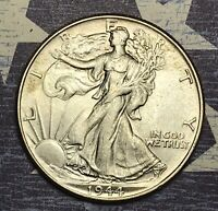 1944 WALKING LIBERTY SILVER HALF DOLLAR. COLLECTOR COIN. FREE SHIPPING