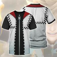 Anime Kingdom Hearts Cosplay 3D T-Shirt Unisex Casual Short Sleeve Tee Tops