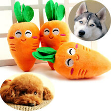 Cute Plush Carrot Toy Puppy Pet Supplies Chew Squeaker Sound Squeaky Dog Toys C