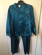 Heavenly Bodies 83% polyester,17% cotton solid teal polk dot pajama set size 3X