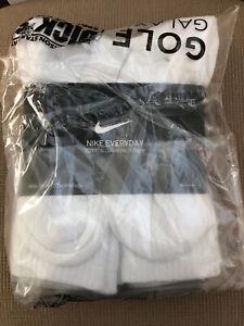 NIKE Everyday Cushion Training Crew Socks | 6 Pack | White | Large | BRAND NEW