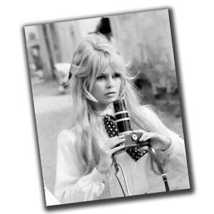 Brigitte Anne-Marie Bardot Retro Star Photo Glossy Big Size 8X10in Y015