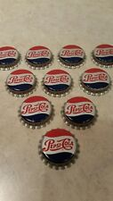 10 Vintage Pepsi Cola Bottle Caps Cork Unused Mint