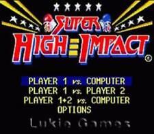 Super High Impact - SNES Super Nintendo Game