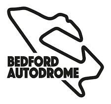 BEDFORD RACE CIRCUIT. Car vinyl sticker F1 Autodrome Grand Prix Formula One