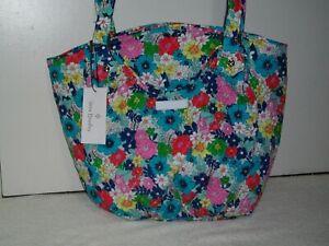 New Vera Bradley Glenna Satchel Shoulder Bag Tote Far Out Floral