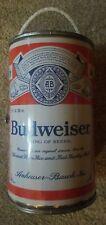 Vintage Bud Budweiser Beer Can Shape Floating Cooler w/ Rope Handle & Orig. Box.