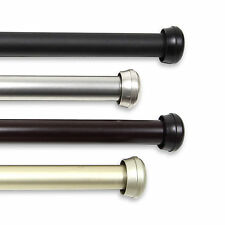 """Alloy Curtain Rod 1""""OD #10-68 choose from 4 colors and 5 sizes (28-240 inch)"""