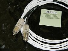 4m SILVER PLATED PHONO RCA INTERCONNECT CABLE FOR ACCUPHASE KRELL AMPLIFIER USA