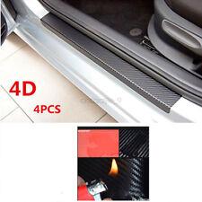 4x Accessories Carbon Fiber Car Scuff Plate Door Sill 4D Sticker Panel Protector