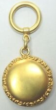 "Art Nouveau Antique Art Deco 18k Yellow Gold Reposse 2 Picture Locket 1.98"" Fine"