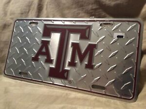 Gameday Outfitters Texas A&M Car Tag Plate Metal - Stamped - Polished  *New*