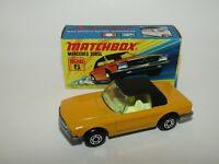 "Matchbox Superfast No 6 Mercedes 350SL Yellow ""CLEAR GLASS"" MIB RARE"
