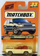 MATCHBOX 69 CAMARO SS 396 #33 WHITE MINT ON CARD 1998 DIECAST