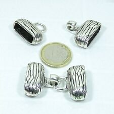 2 Cierres Dobles Para Cuero Regaliz 41x27mm  T497  Plata Tibetana Leather Clasps