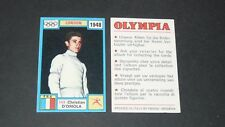 143 1948 D'ORIOLA FRANCE PANINI OLYMPIA 1896-1972 JEUX OLYMPIQUES OLYMPIC GAMES