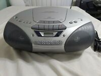 Vintage Sony CFD-S250 AM/FM Radio Boombox CD Player Cassette Recorder and Remote