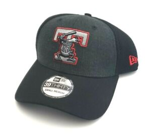 Toledo Mud Hens MILB New Era 39Thirty Heathered Neo Fitted Hat Black Size S/M