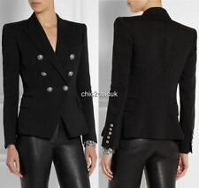 Balmain Black Double-breasted blazer Jacket UK12 FR42 $2500 Sold out Colour