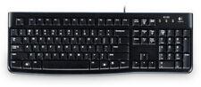 LOGITECH Tastatur K120 USB Kabel schwarz deutsch QWERTZ Computer Keyboard PC