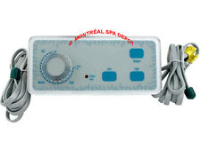 Spa hottub Balboa WG® ANALOG DUPLEX topside panel 3-buttons + knob & 2phone plug