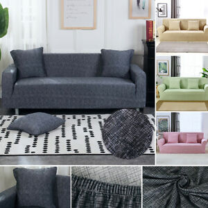 1-4 Seat Elastic Non-Slip Stretch Sofa Slipcovers Couch Recliner Furniture Cover