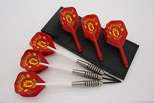 25g Tungsten Darts, Manchester United Standard flights, shafts, case!
