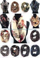 US SELLER , 10PC Wholesale vintage paisley flower circle loop infinity scarf