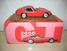 TOYOTA 2000 GT in rot 1:24 auf Präsentationssockel mit Umkarton