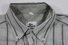 TE6999 Lacoste  Businesshemd Langarm 39 beige, schwarz, weiß, hellblau gestreift