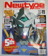 Newtype USA Magazine Gundam 00 & 5th Anniversary November 2007 040615R