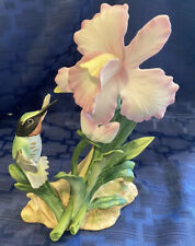 Homco Hummingbird Flower Figurine Masterpiece Bone China 1985 Home Interior 9192