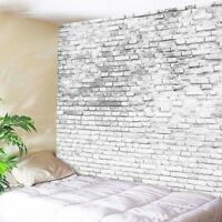 White Brick Print Tapestry Wall Hanging Tapestry Room Home Decoration Bedspread