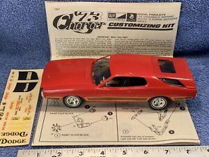 Vintage MPC '73 Mopar Dodge Charger Customizing Scale Model  ~ Built