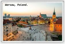 WARSAW - JUMBO FRIDGE MAGNET - POLAND POLSKA POLISH GDANSK KRAKOW